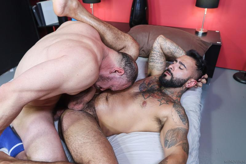 Big muscle bear Max Sargent thick raw dick bare fucking hot hunk Rikk York Men Over 30 13 image gay porn - Big muscle bear Max Sargent's thick raw dick bare fucking hot hunk Rikk York at Men Over 30