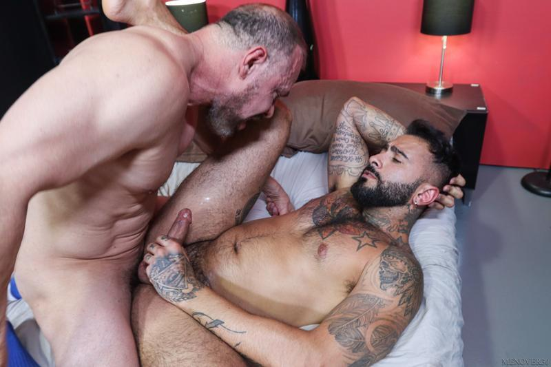 Big muscle bear Max Sargent thick raw dick bare fucking hot hunk Rikk York Men Over 30 14 image gay porn - Big muscle bear Max Sargent's thick raw dick bare fucking hot hunk Rikk York at Men Over 30