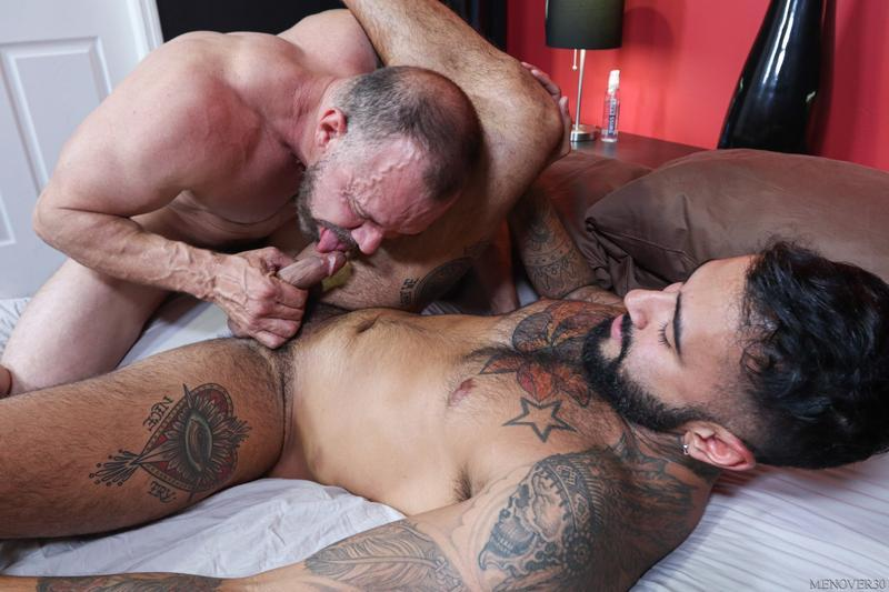 Big muscle bear Max Sargent thick raw dick bare fucking hot hunk Rikk York Men Over 30 8 image gay porn - Big muscle bear Max Sargent's thick raw dick bare fucking hot hunk Rikk York at Men Over 30