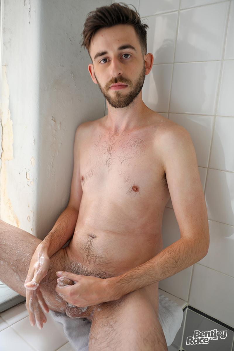 Horny bearded young Aussie dude Eddie Archer strips strokes shower Bentley Race 10 image gay porn - Horny bearded young Aussie dude Eddie Archer strips and strokes in the shower at Bentley Race