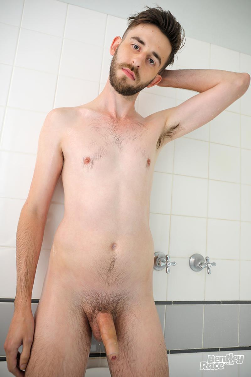 Horny bearded young Aussie dude Eddie Archer strips strokes shower Bentley Race 11 image gay porn - Horny bearded young Aussie dude Eddie Archer strips and strokes in the shower at Bentley Race