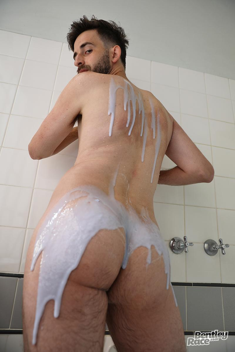 Horny bearded young Aussie dude Eddie Archer strips strokes shower Bentley Race 6 image gay porn - Horny bearded young Aussie dude Eddie Archer strips and strokes in the shower at Bentley Race