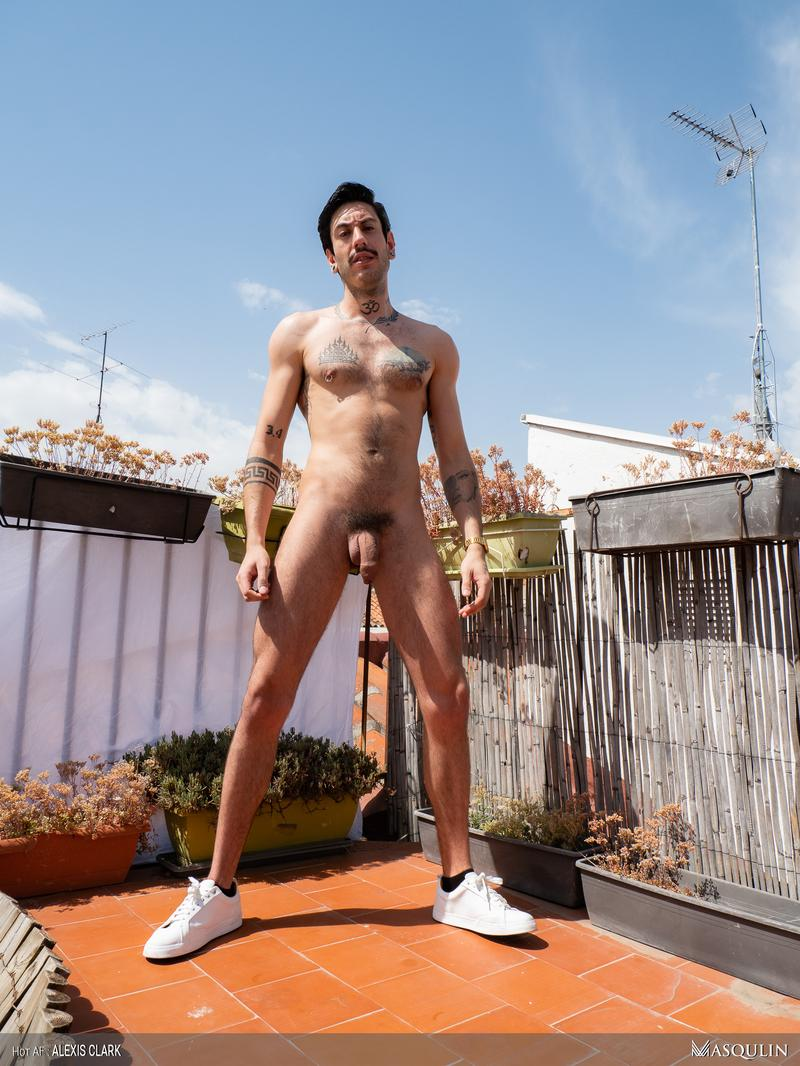Masqulin rooftop sexy hunk Alexis Clark hot bare asshole raw fucked big uncut dick 13 image gay porn - Masqulin rooftop sexy hunk Alexis Clark's hot bare asshole raw fucked by big uncut dick
