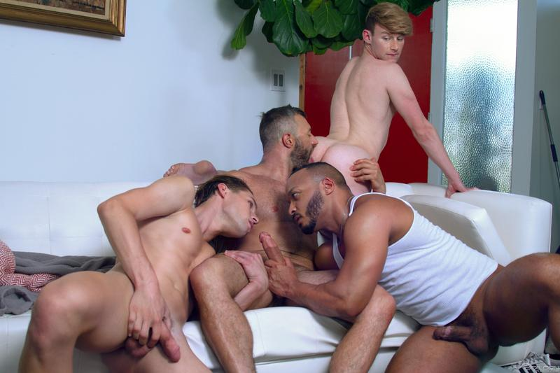 Raging Stallion gay sex foursome Eric Charming Shae Reynolds Dillon Diaz Cole Connor huge cock dicking 0 image gay porn - Raging Stallion gay sex foursome Eric Charming, Shae Reynolds, Dillon Diaz and Cole Connor's huge cock dicking