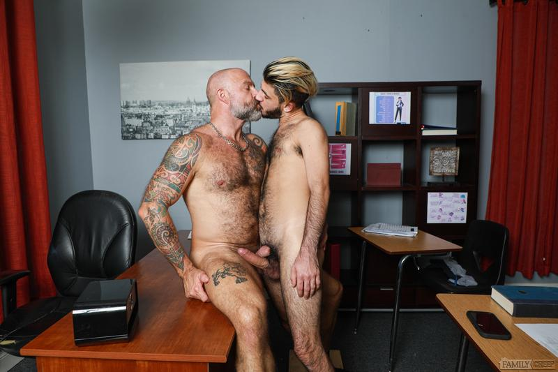 Sexy young stud Adrian Rose thick cock bareback fucking older dude Musclebear Montreal Pride Studios 10 image gay porn - Sexy young stud Adrian Rose's thick cock bareback fucking older dude Musclebear Montreal at Pride Studios