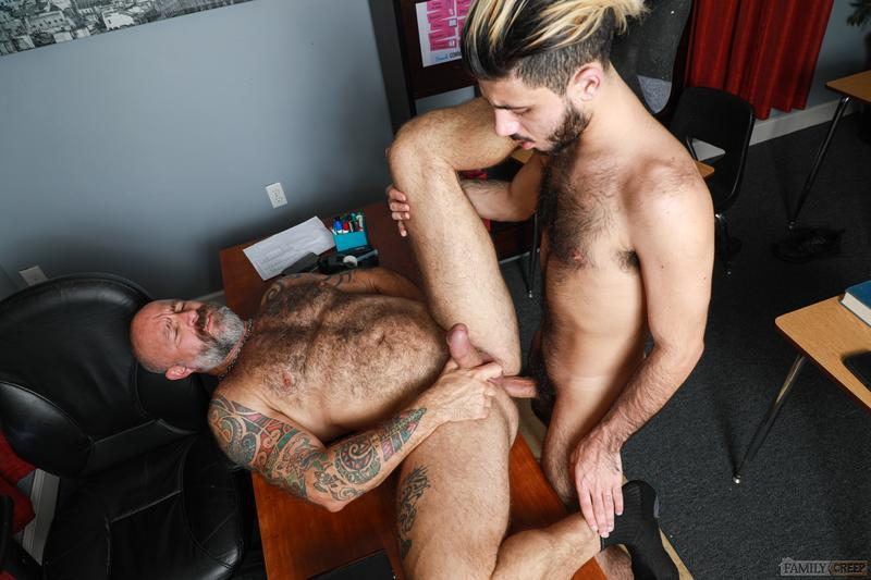 Sexy young stud Adrian Rose thick cock bareback fucking older dude Musclebear Montreal Pride Studios 11 image gay porn - Sexy young stud Adrian Rose's thick cock bareback fucking older dude Musclebear Montreal at Pride Studios