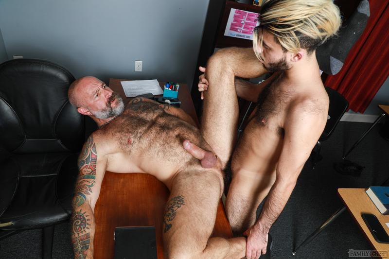 Sexy young stud Adrian Rose thick cock bareback fucking older dude Musclebear Montreal Pride Studios 14 image gay porn - Sexy young stud Adrian Rose's thick cock bareback fucking older dude Musclebear Montreal at Pride Studios